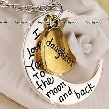 Gold Heart & Silver Love Necklace Christmas Gifts for Her Daughter Girls Mum WE1