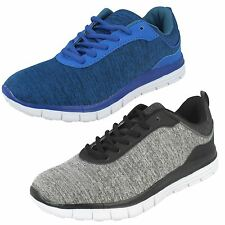 Mens Blue Air Tech Lace Up Trainers UK Sizes 7-12 Profile