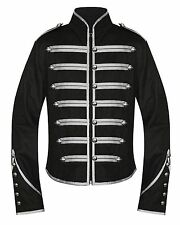 Handmade Men Black Parade Military Marching Banned Drummer Jacket