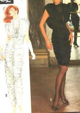 Simplicity 7625,Sz 4-8,David Howard CLIMAX Ruched Cocktail Dress/Evening Gown UC