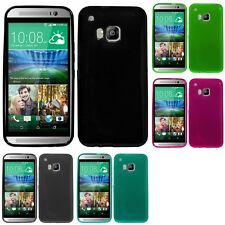 For HTC One M9 Case TPU Rubber Crystal Skin Phone Slim-Grip Cover