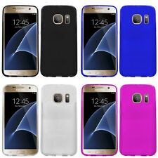 For Samsung Galaxy S7 Edge Case TPU Rubber Crystal Skin Phone Slim-Grip Cover