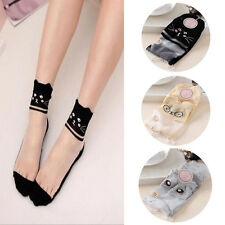 Women Comfy Cotton New Lace Sock Knit 1 Pairs Mesh Elastic Ankle Socks