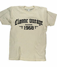CLASSIC VINTAGE FOUNDED 1968 - Birthday T-shirt gift funny present born in fun