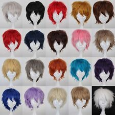 Fashion Short Straight Full Wigs Synthetic Hair Wig Anime Cosplay Party Wig Hot