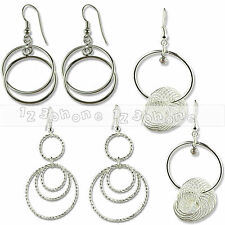 WOMEN'S FASHION JEWELRY ELEGANT STEEL PARTY RING EARDROP DANGLE HOOK EARRING