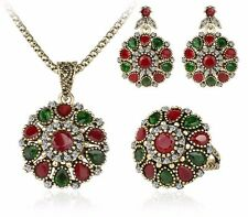 Crystal Flower Necklace Sets Fashion Earring For Women Jewelery Sets
