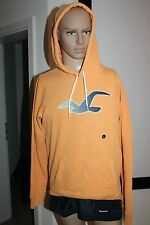 Hollister Men's Hoodie Sweater Pullover Orange Blue Size M Or L New