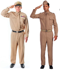 Mens Armed Force Fancy Dress World War 2 US Army General/Private Soldier Costume