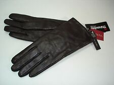 Womes Sheep Leather Gloves DARK BROWN TOUCH SCREEN COMPATIBLE TARGET MERONA L/XL