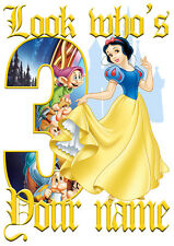 Disney Princess Snow White Personalised Girls T-Shirt Age 3 Ideal Gift/Present