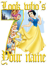 Disney Princess Snow White Personalised Girls T-Shirt Age 7 Ideal Gift/Present