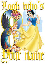 Disney Princess Snow White Personalised Girls T-Shirt Age 8 Ideal Gift/Present