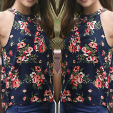 New Women Casual Summer Floral Boho Vest Top Sleeveless Blouse Tank Tops T Shirt