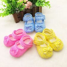 Anti-slip Toddler Kid Baby Shoes Newborn Girls Soft Sole Cotton Crib Shoes 0-18M
