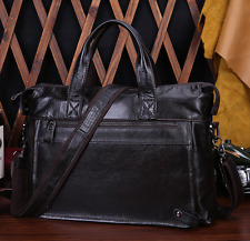 New Men Business Genuine Leather Handbag Briefcase Shoulder Bag Laptop Messenger