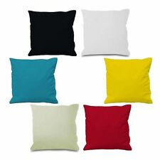 Plain Dyed Cushion Cover 100% Percale Cotton Pillow Case Home Sofa Dacor