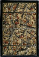 United Weavers Hautman Camo Grid Rustic Country Cabin Soft Polyproplene Rug