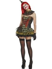 Creepy Zombie Clown Adult Womens Halloween Costume Scary Fancy Dress Outfit