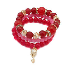 Colorful Handmade Beads Stretch Fashion Bangle Bead Bracelet For Women EQ219