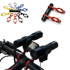 Bicycle Bike Carbon fiber Double Handlebar Mount Extension for Computer lights