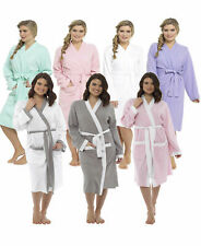 Ladies Lightweight Summer Waffle Bath Robe 100% Cotton Dressing Gown House Coat