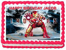 IRON MAN Image Edible Cake topper Party decoration