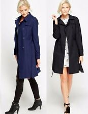 NEW LADIES BELTED DOUBLE BREASTED TRENCH MAC JACKET COAT UK 8 , 12