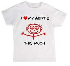 I Love My Auntie This Much Babies/Childrens T-Shirt