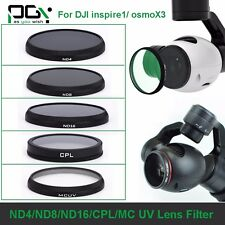 PGY Camera ND4 ND8 ND16 Lens Filter/CPL/MC UV Filter Lens For DJI OSMO&Inspire 1