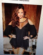 SHIRLEY OR HOLLYWOOD CHEMISE BABY DOLL SETS 3257 BLACK OR TEAL NEW