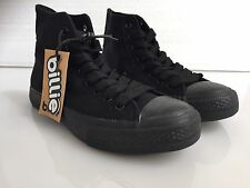 Canvas School Shoes Black Billie  Hi Top Unisex Adults & Teens