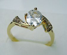 Brand New size:5-9 lady's lily sapphire 10kt yellow gold filled ring Best Gift