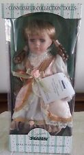 """Seymour Mann Connoisseur Collection Porcelain Dolls """"Cissy"""" Doll With Stand"""