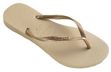 Havaianas Slim Womens Flip Flop - Sand Grey/Light Golden