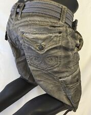 Mens AFFLICTION CARGO SHORTS SILVER LAVA WASH SAHARA MMA 31 32 33 34 36 38 40 42