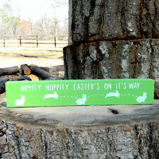 Hippity Hoppity Easter's On It's Way Shelf Sitter - 6 Colors to Choose From!