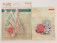 Winter Sleigh Ride Glitter Chipboard & Bundled Up Layered Border American Crafts