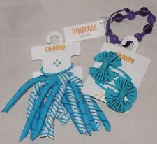 NEW Gymboree FRIENDSHIP CAMP Curly PonyTail Teal Ribbon Hair Clip Bow Bracelet