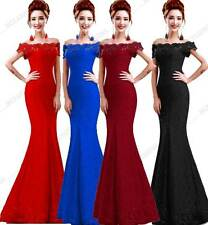 New Beads Lace Mermaid Long Evening Dress Off The Shoulder Party Dress