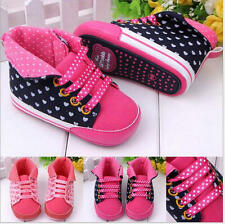 Lace-Up Baby Shoes Casual Canvas Shoes Anti-Slip First Walkers New Born Sneakers