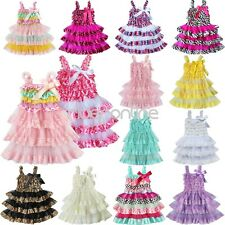 Lace Petti Dress Flower Girls Toddler Baby Clothes Vintage Wedding Photo Prop