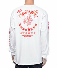 Primitive x Huy Fong Sriracha Long Sleeve Shirt Streetwear Hot Sauce Tee White