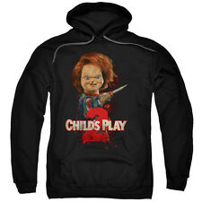 Child's Play 2 Movie Chucky with Knife HERE'S CHUCKY Licensed Sweatshirt Hoodie