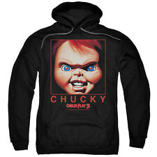 Child's Play 3 Movie Poster BIG CHUCKY FACE in Square Licensed Sweatshirt Hoodie