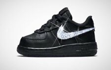 Baby Bling Toddler Nike Air Force1 Low Customized With Swarovski Diamond Crystal