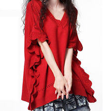 Fashion Women Bat Sleeve Cashmere Sweater Korean Pullover Loose Knitted Sweater