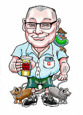 Caricatures drawn from photos. Professionally drawn in colour from your photos!