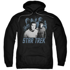 Star Trek TOS KIRK, SPOCK AND VILLAINS Licensed Sweatshirt Hoodie