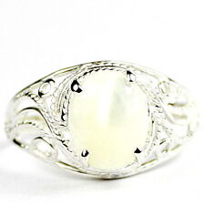 Mother of Pearl, 925 Sterling Silver Ring-Handmade, SR083